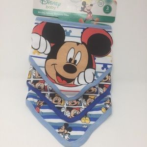 Mickey Mouse 3 Pack Boys Bandana Bibs